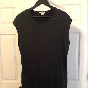 Helmut Lang Black T Shirt Dress w Pockets